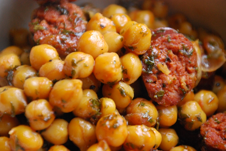 Chorizo and Chickpeas Braised in Cider (33)
