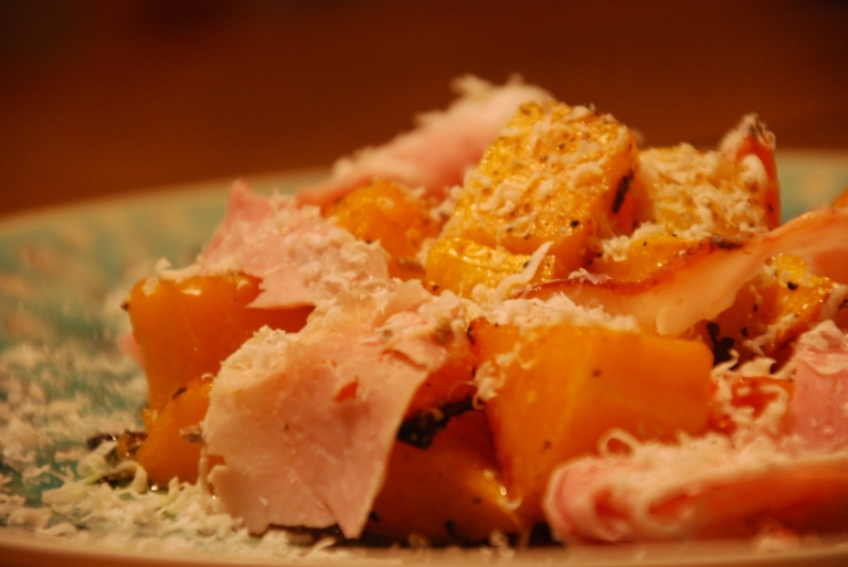 Roasted Butternut Squash, Sage and Italian Ham