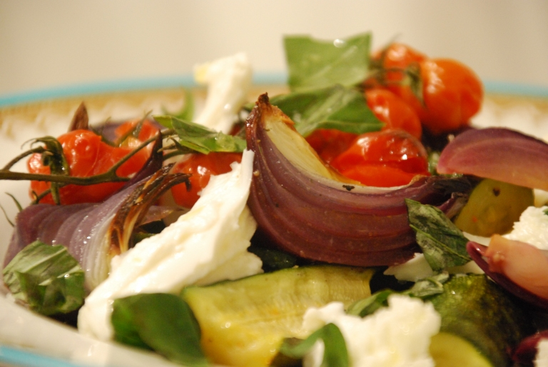 Roasted Courgettes and Tomatoes with Mozzarella and Basil 3